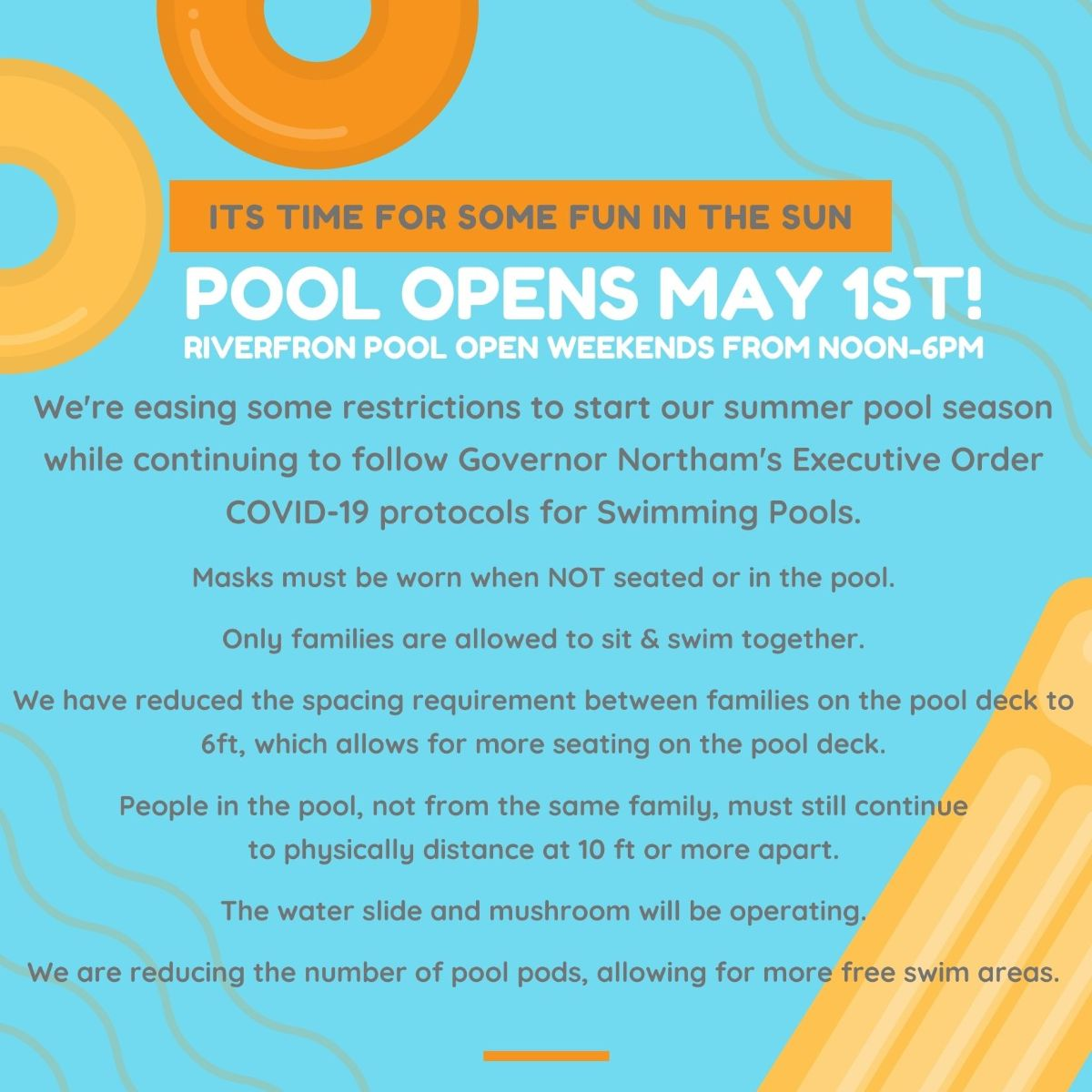 Pool Opens May 1st, 2021