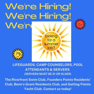 We are Hiring! Summer 2021
