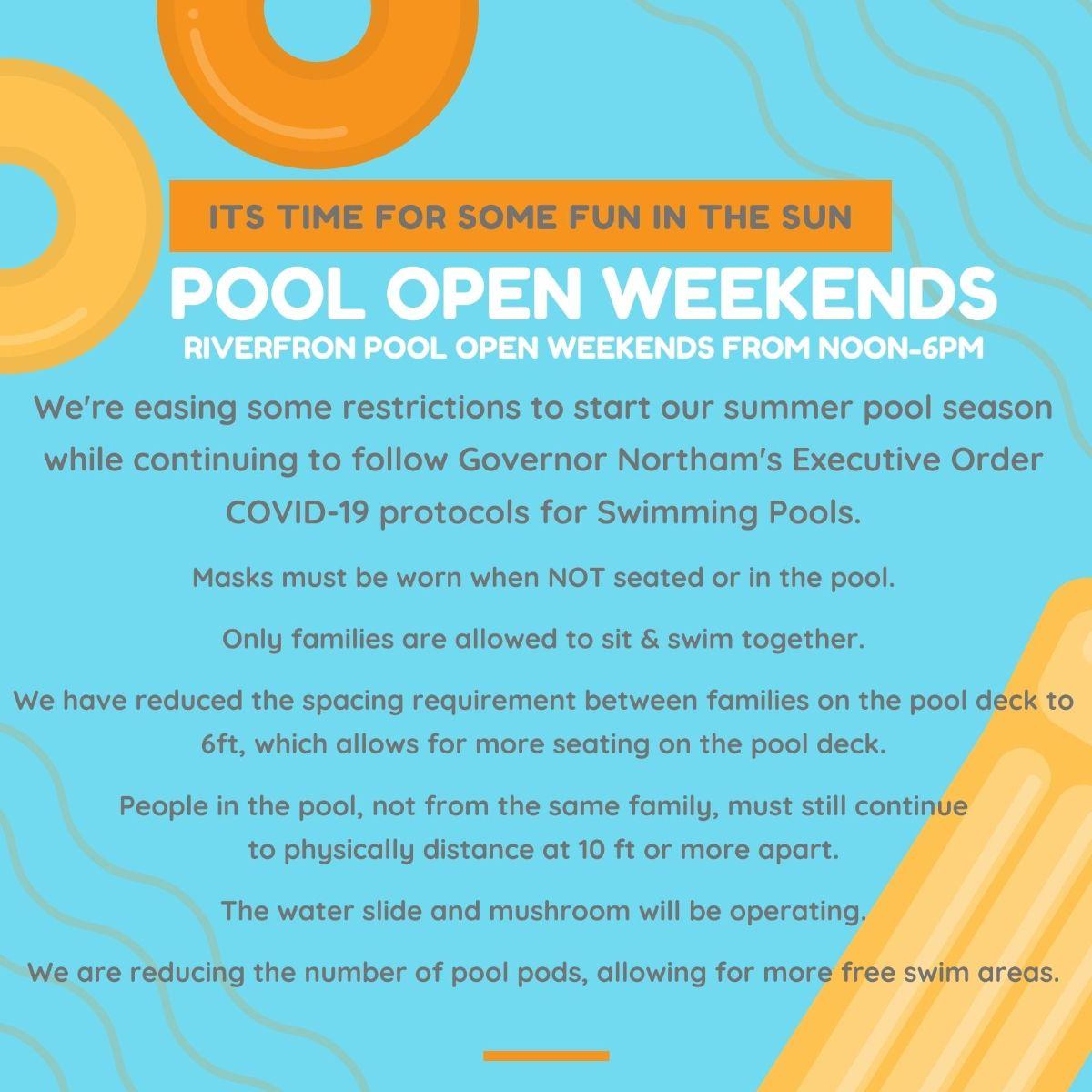 Pool Opens Weekends 2021