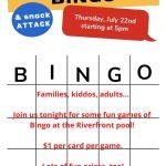Pool Bingo July 2021